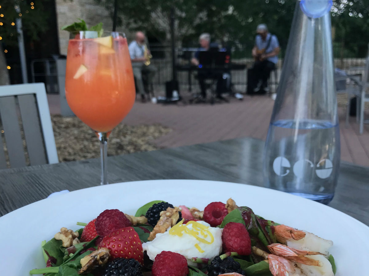 ERA and SMITH have your patio needs covered - along with all that jazz - The summer spinach salad accompanied by live jazz at ERA Bistro (PCG)
