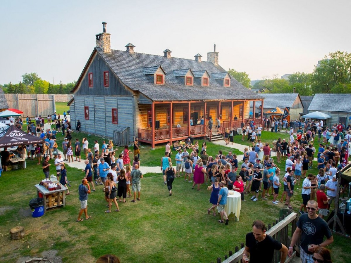 Local love: Upcoming festivals for beer and poutine at Fort Gibraltar  - Fort Gibraltar in all its Beer Festival splendour (photo courtesy of Winnipeg Beer Festival)