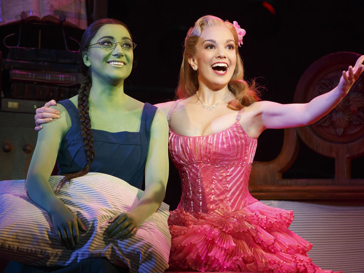 Witches of Oz return to Winnipeg stage - Laurel Harris and Kara Lindsay in Wicked - credit Joan Marcus