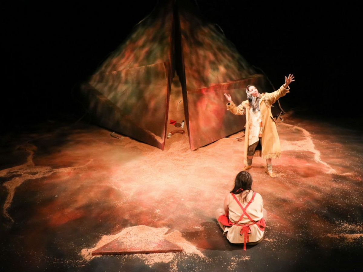 Review: Celebrate Indigenous theatre with PTE's The Third Colour  - Tracey Nepinak and Kathleen MacLean in The Third Colour (photo by Leif Norman)