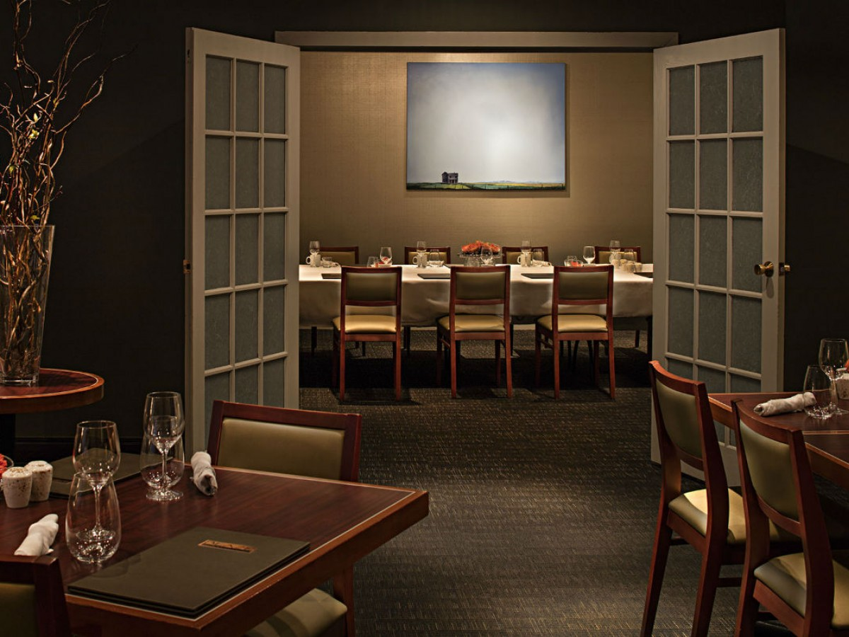 Fireside Food: Cozy up with Blaze Restaurant's new winter menu - Blaze Restaurant and Lounge's private dining room entrance (photo courtesy of Delta Hotels)