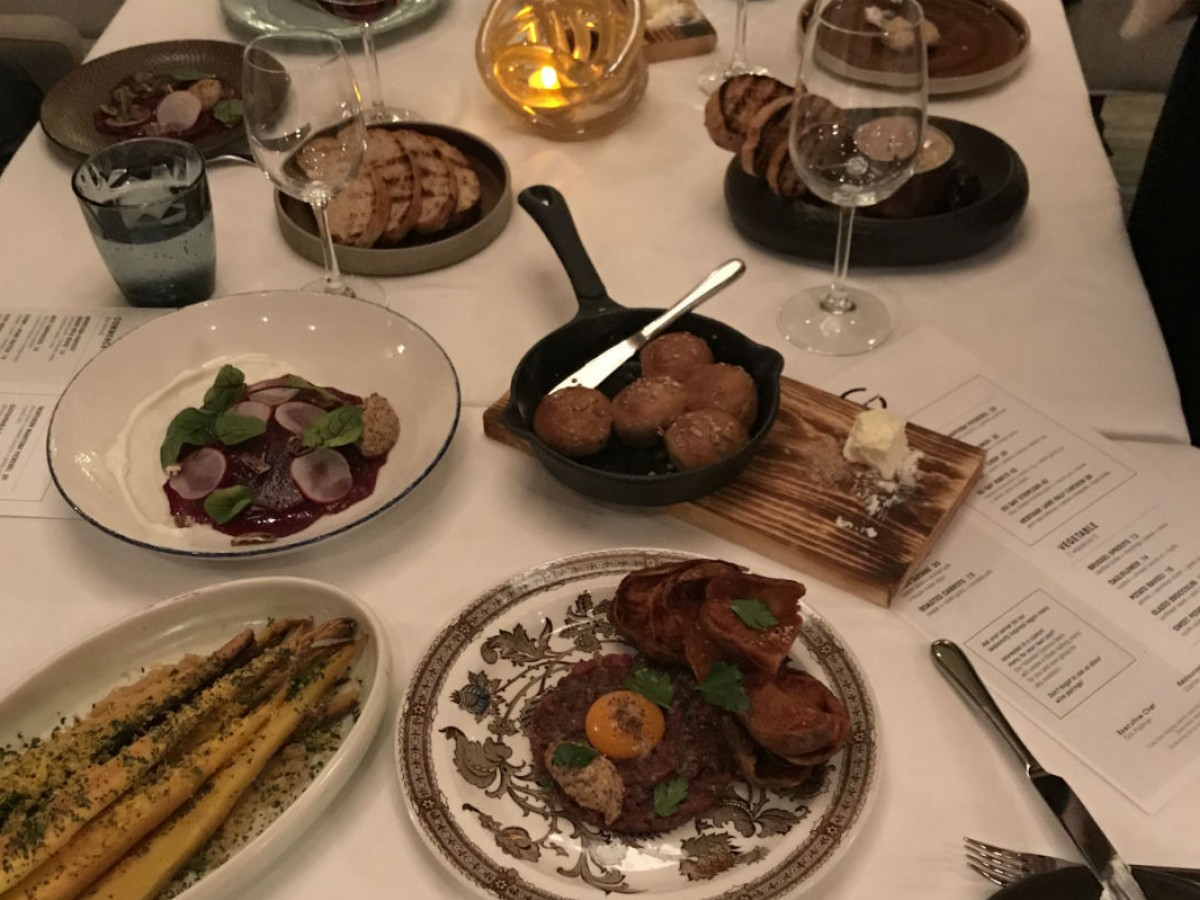 Meaty new menu at VG will bring you warmth and nostalgia this winter - A full spread of starters at VG in the Fairmont Winnipeg (PCG)