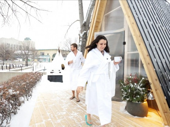 sauna | Winnipeg makes The Forks the city's newest steamy location - photo by Tyler Walsh