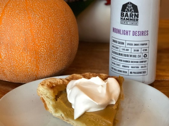 ​Pumpkin spice and gourds that are nice - Pair Hildegard's pumpkin pie perfectly with Barn Hammer's Pumpkin Saison (photo: Mike Green)