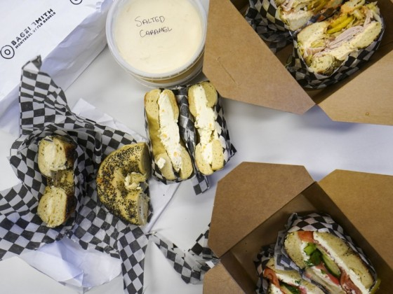 Battle of the bagels: Tasting notes from the city's holiest new shops  - Downtown Winnipeg's Bagelsmith serves up schmears, spreads and bagel sandwiches.