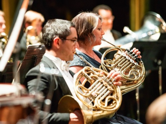Winnipeg's performers are virtually yours to begin 2021 - See WSO principal French horn Patricia Evans (pictured on right) perform Mozart and Strauss on Jan 16 (photo by JJ Gill)