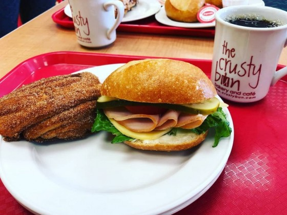 Eat in St. Vital... Yes, we shall!  - The Crusty Bun Bakery & Café on St. Mary's Rd.