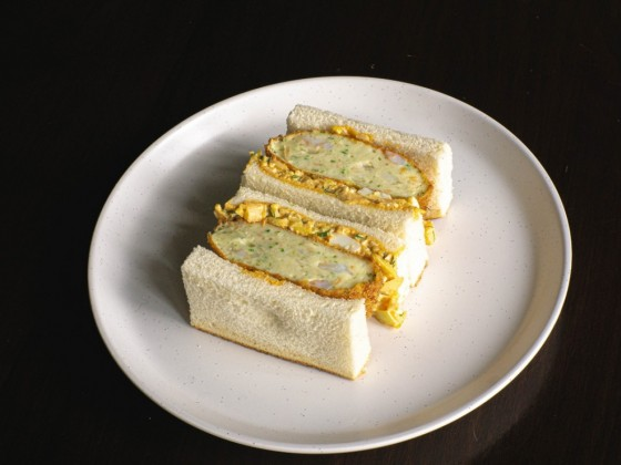 New & notable for spring: cakes, coffee, sandos and bubble tea too - The Ebi Katsu Sando by Moshi Moshi, a pop-up run out of Khao House on Saturdays (photo courtesy of Moshi Moshi)