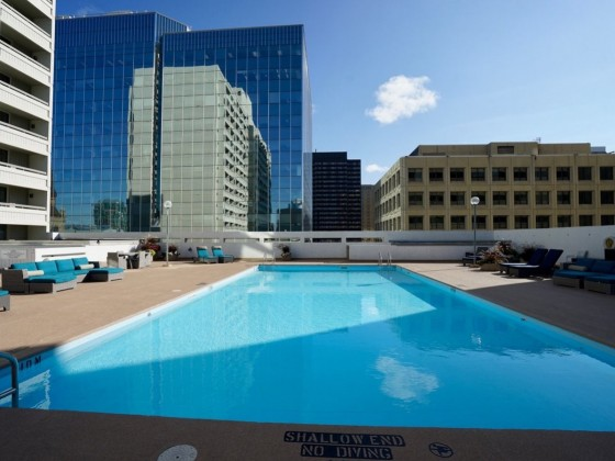 Sit rooftop poolside and brunch on your balcony at Delta Winnipeg