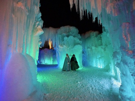Tour a frozen wonderland at Ice Castles