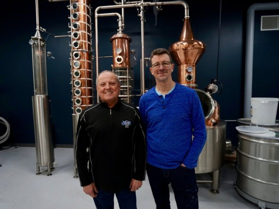 What's new on the Winnipeg restaurant scene for winter 2019 - Mike McCallum and Brock Coutts at Patent 5 Distillery (Tyler Walsh for PCG)