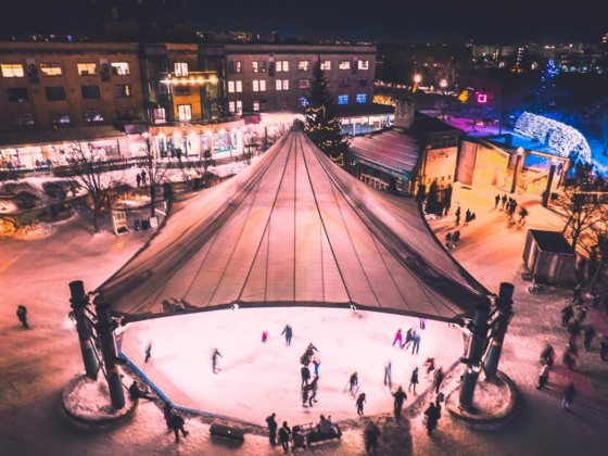 Five of the MOST Winnipeg things to do this holiday season - Skating under the canopy at The Forks is a quintessential Winnipeg experience (photo by Kristhine Guerrero)