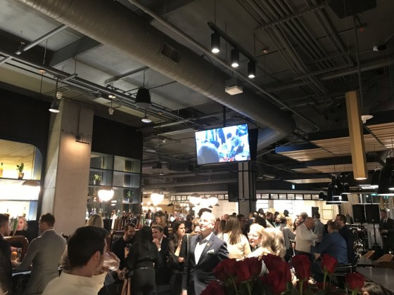 Hargrave St. Market's polished setting proves well worth the wait - The packed house at the soft opening of Hargrave St. Market (PCG)