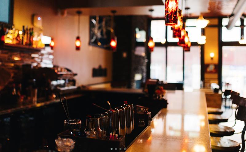 Inside the Albert Street Cocktail Company.