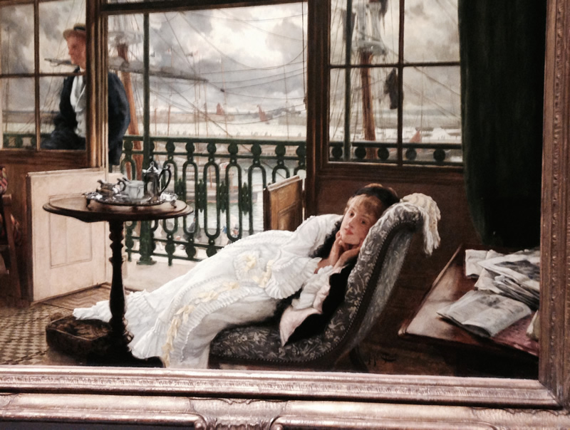 "Detail of James Tissot's ""A Passing Storm"""