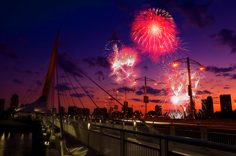 The view of the fireworks from St. Boniface (Kai Chang)