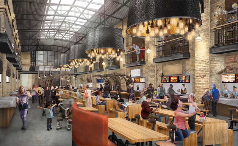 Rendering of the Forks Market redesign (Number 10 Architecture)