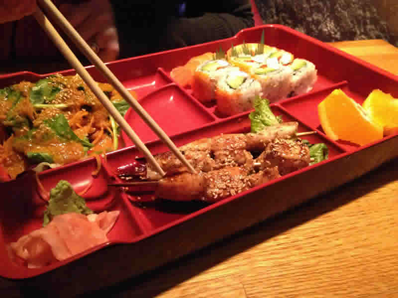 Bento Box at Meiji Sushi/ Robin Summerfield