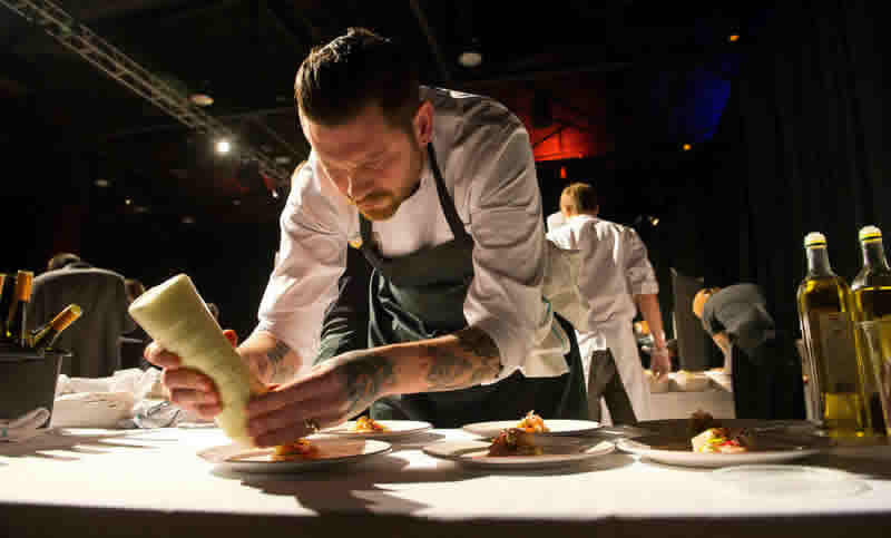 Segovia chef/owner Adam Donnelly at Gold Medal Plates 2012 (photo by Dan Harper)