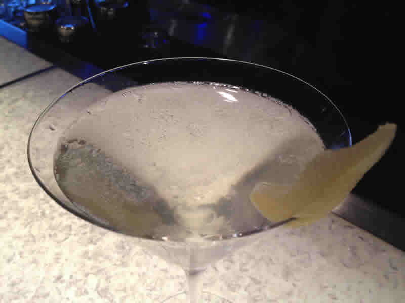 Elderflower peartini at Lobby on York.