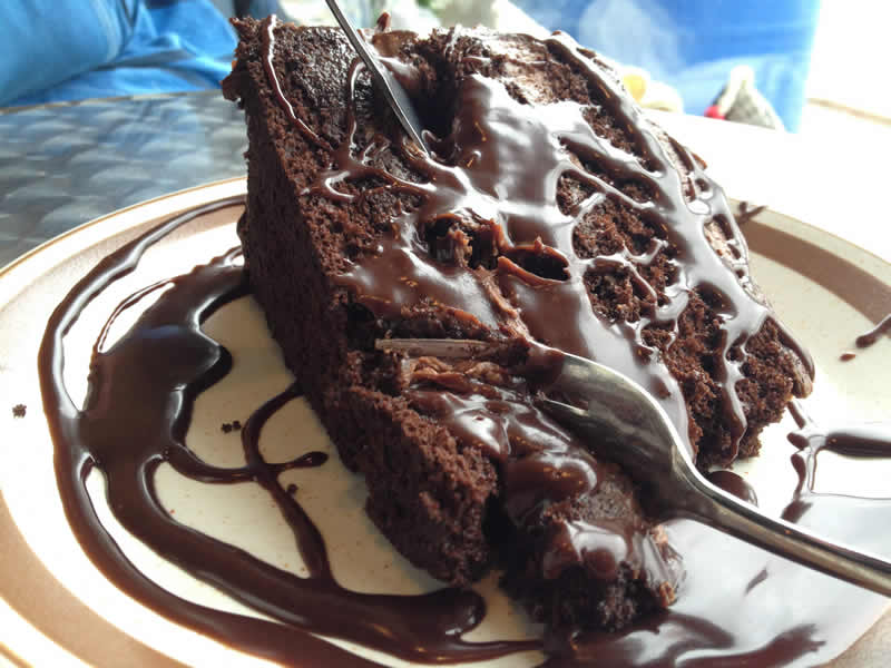 Classic chocolate cake, Pastry Castle. (Photo by Robin Summerfield.)