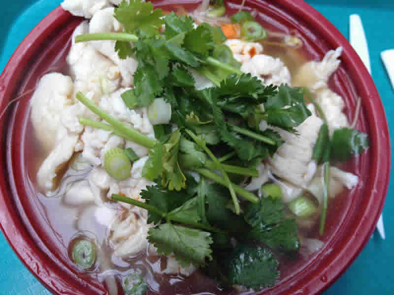 Chicken Pho, Dragon Express. (photo by robin summerfield)