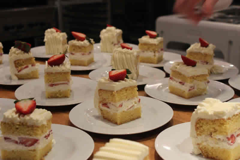 Strawberry and mascarpone cake at De Luca's. (Photo by Robin Summerfield.)
