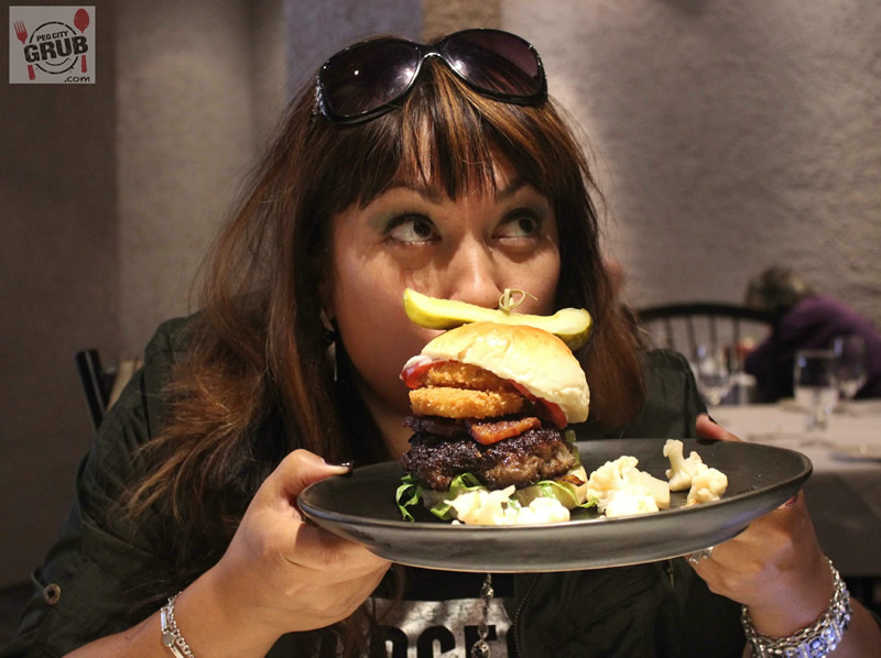 Mmmmmm.... shaved roast wagyu beef burger at The Mitchell Block. (Photos by Robin Summerfield)