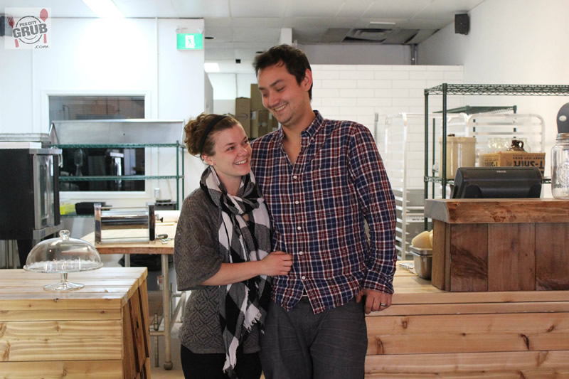 Kristen Chemeriki-Lew and Kyle Lew inside their new bakery, The Store Next Door.