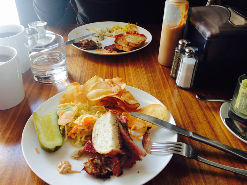 Feelings officially half-eaten at Sherbrook Street Delicatessen (PCG)