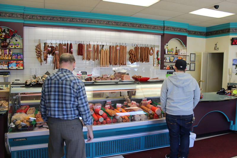 All the pork sausage and charcuterie is handmade at Karpaty Meats & Deli (PCG)