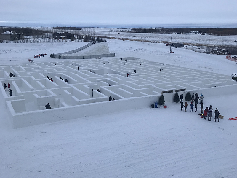 Snow Maze at A Maze in Corn