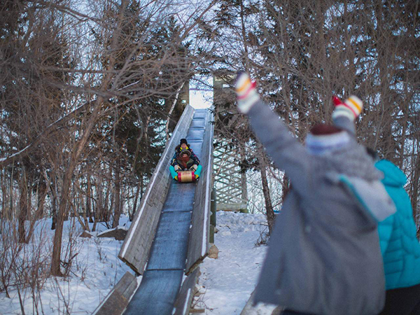 Slide into winter at FortWhyte Alive - representative image